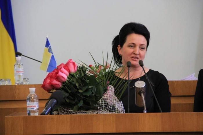 Секретарь Житомирского горсовета Любовь Цимбалюк